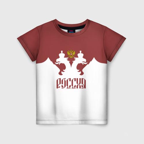 Детская футболка 3D Россия, двуглавый орел