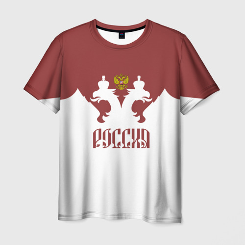 Мужская футболка 3D Россия, двуглавый орел