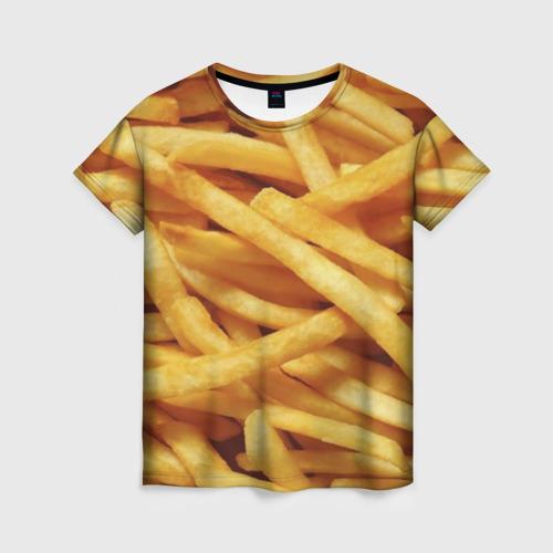 Женская футболка 3D Картошка фри