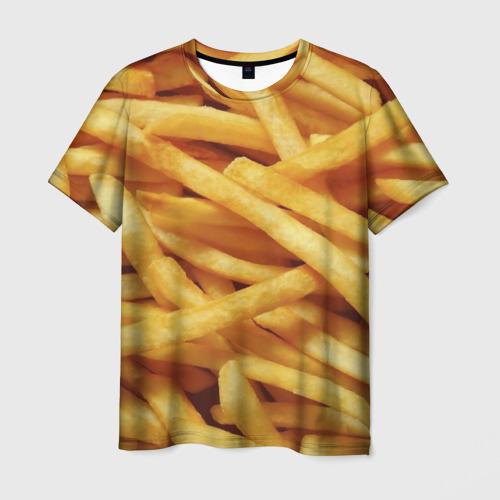 Мужская футболка 3D Картошка фри