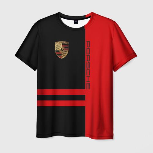 Мужская футболка 3D Porsche