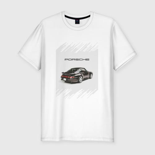 Мужская футболка хлопок Slim Porsche retro
