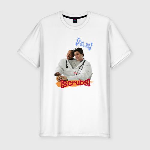 Мужская футболка хлопок Slim Сериал клиника