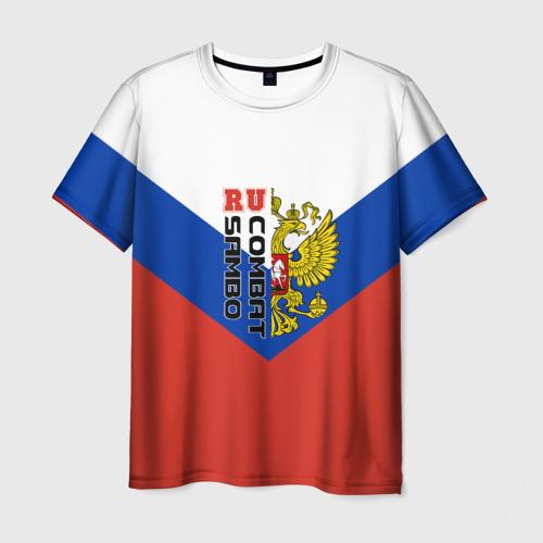 Мужская футболка 3D Combat sambo RU