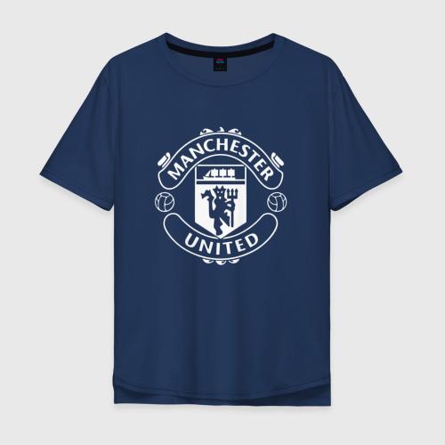 Мужская футболка хлопок Oversize Manchester United