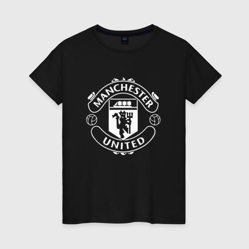 Женская футболка хлопок Manchester United