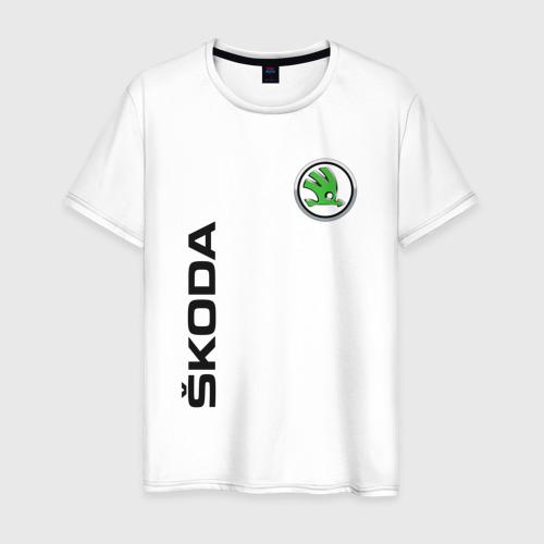 Мужская футболка хлопок Skoda Auto a.s.