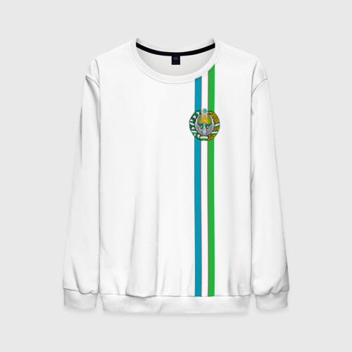 Мужской свитшот 3D Узбекистан, лента с гербом