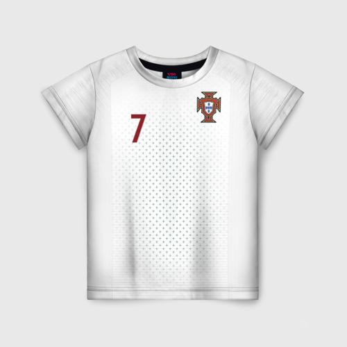 Детская футболка 3D Роналду 2018 ЧМ гостевая