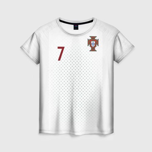 Женская футболка 3D Роналду 2018 ЧМ гостевая