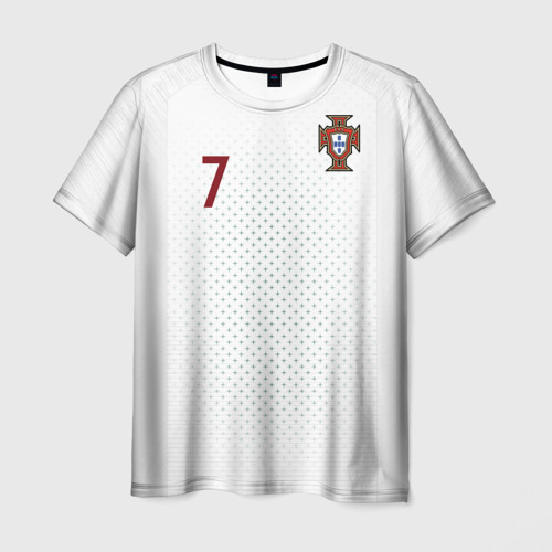 Мужская футболка 3D Роналду 2018 ЧМ гостевая