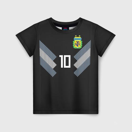 Детская футболка 3D Месси ЧМ 2018 гостевая