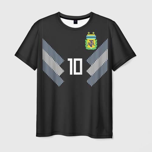 Мужская футболка 3D Месси ЧМ 2018 гостевая