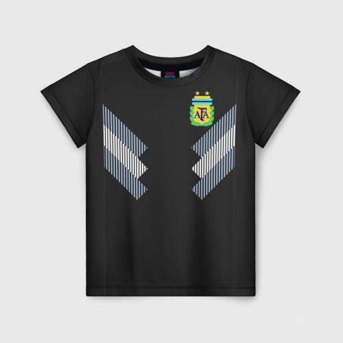 Детская футболка 3D Аргентина ЧМ 2018 гостевая