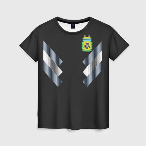 Женская футболка 3D Аргентина ЧМ 2018 гостевая