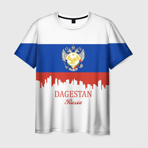 Мужская футболка 3D DAGESTAN (Дагестан)