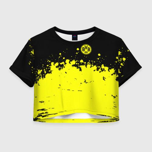 Женская футболка Crop-top 3D BORUSSIA SPORT