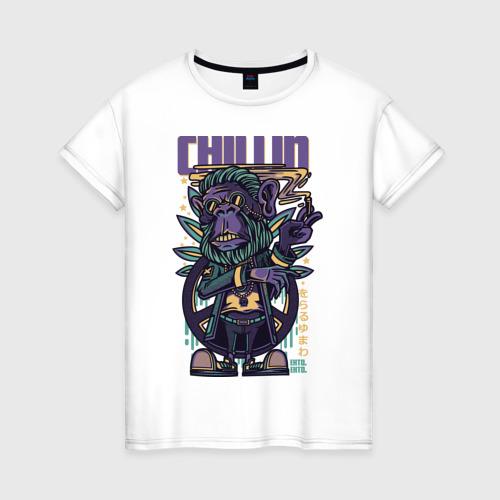 Женская футболка хлопок Горилла