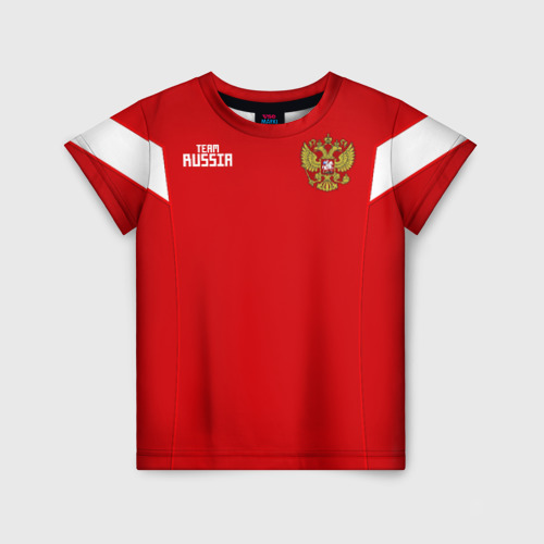 Детская футболка 3D Сборная России 2018 Акинфеев
