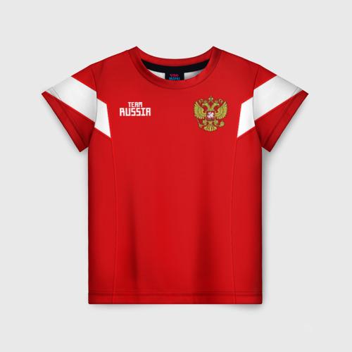Детская футболка 3D Сборная России 2018 Смолов