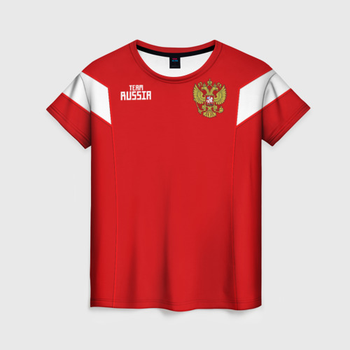Женская футболка 3D Сборная России 2018 Смолов