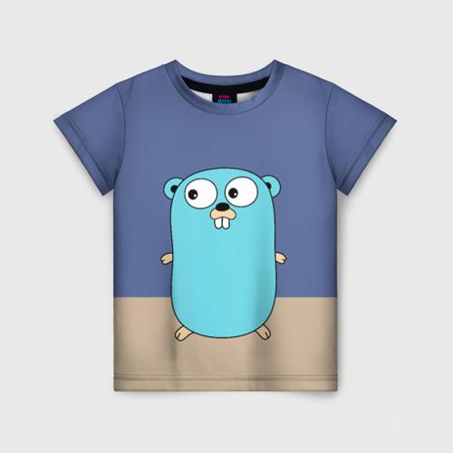 Детская футболка 3D Golang