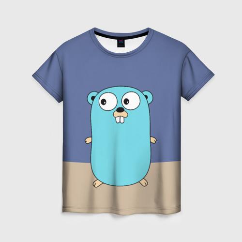 Женская футболка 3D Golang
