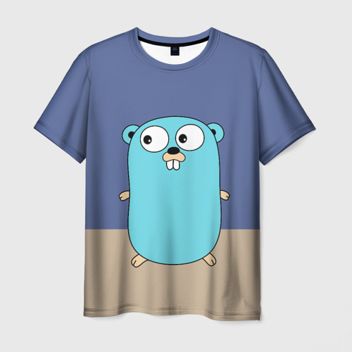 Мужская футболка 3D Golang