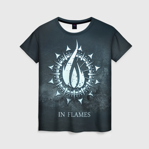 Женская футболка 3D In Flames