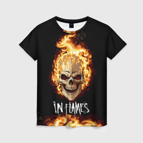 Женская футболка 3D В пламени