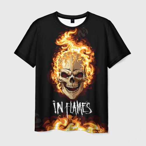 Мужская футболка 3D В пламени