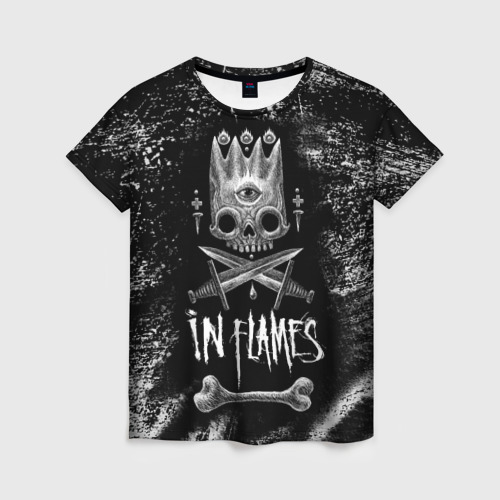 Женская футболка 3D In Flames King