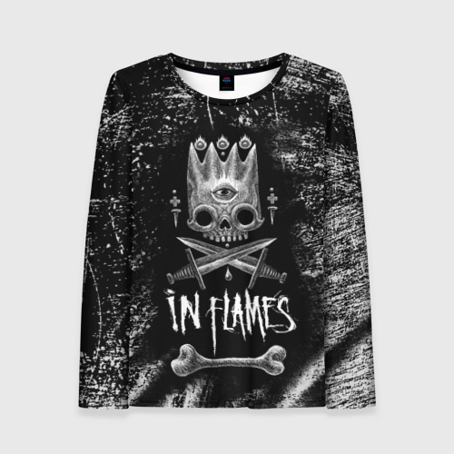 Женский лонгслив 3D In Flames King
