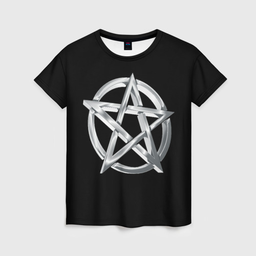 Женская футболка 3D Пентаграмма