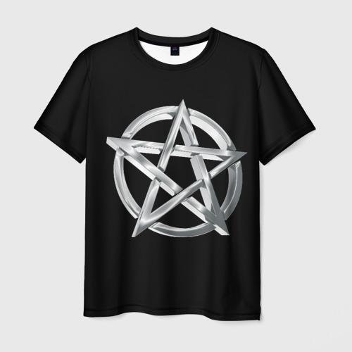 Мужская футболка 3D Пентаграмма