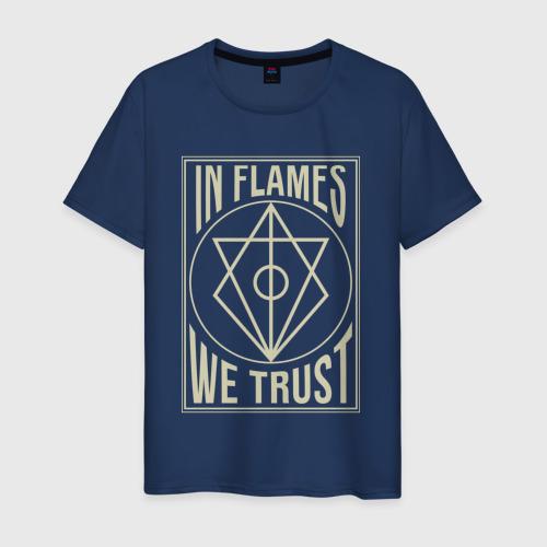 Мужская футболка хлопок In Flames We Trust