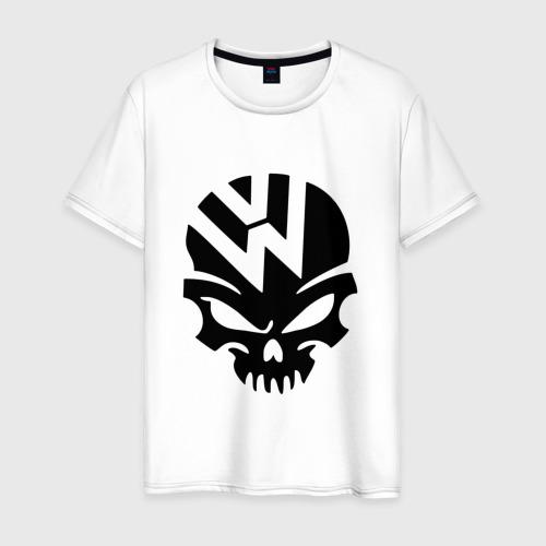 Мужская футболка хлопок Volkswagen череп