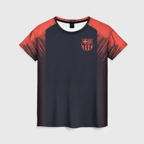Женская футболка 3D Barcelona Training 18-19