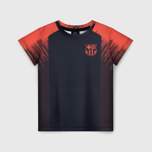 Детская футболка 3D Barcelona Training 18-19