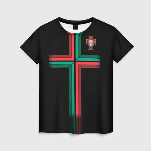 Женская футболка 3D Portugal 2018 WC alternative