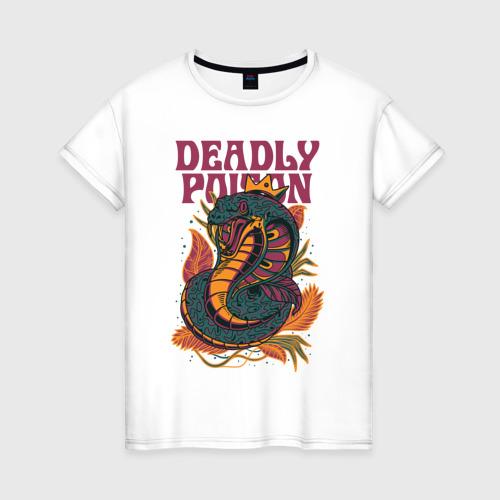 Женская футболка хлопок Змея