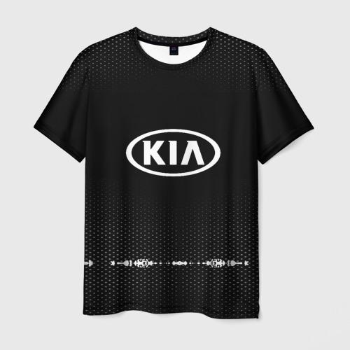 Мужская футболка 3D KIA sport auto abstract