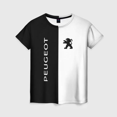 Женская футболка 3D Peugeot