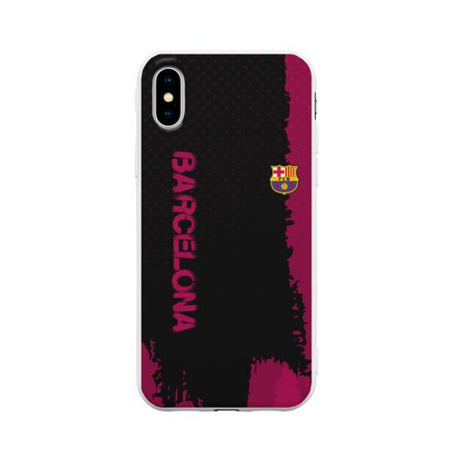 Чехол для iPhone X матовый Barcelona sport