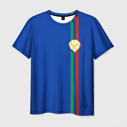 Мужская футболка 3D Дагестан, лента с гербом