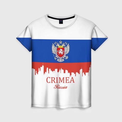 Женская футболка 3D Crimea (Крым)