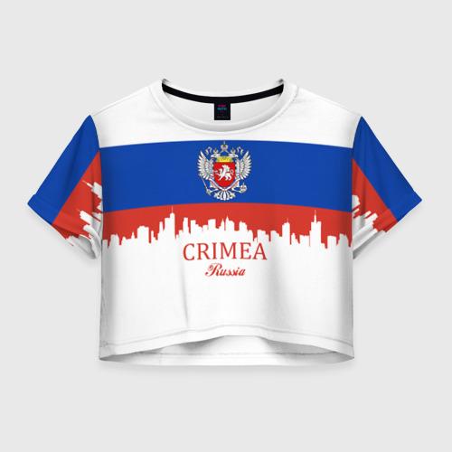 Женская футболка Crop-top 3D Crimea (Крым)
