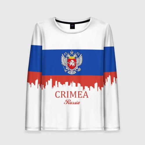 Женский лонгслив 3D Crimea (Крым)