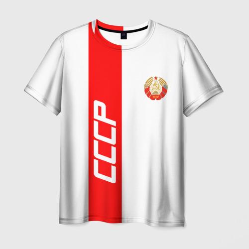 Мужская футболка 3D СССР-white collection