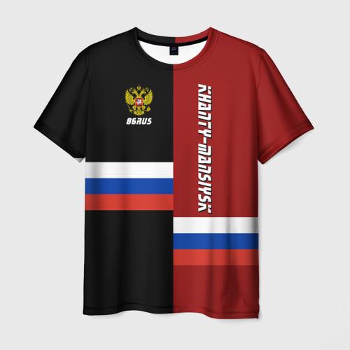 Мужская футболка 3D KHANTY-MANSIYSK (Ханты-Мансийск)